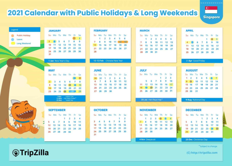 10 Long Weekends In Singapore In 2021 (Bonus Calendar