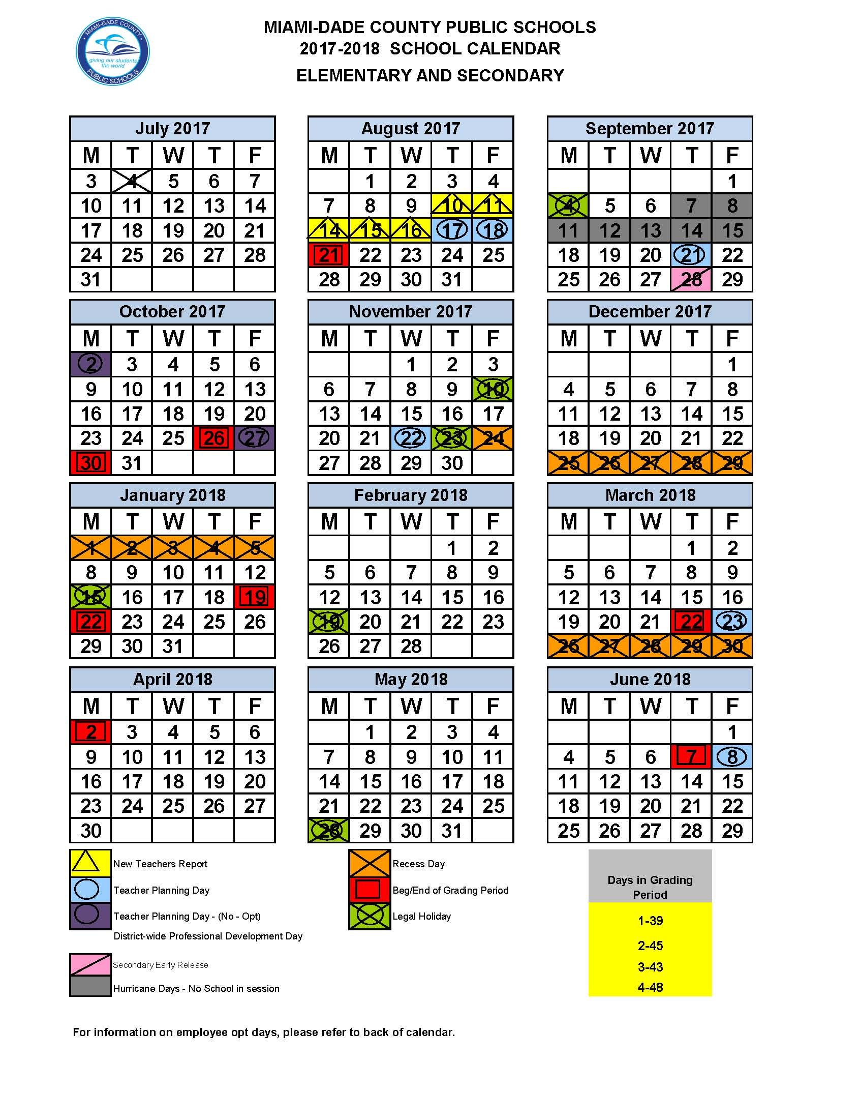 2018 Calendar Miami Dade – 2019 New Year Images