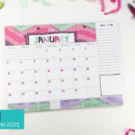 2020-2021 Mini Monthly Desk Calendar | January 2020 - June 2021 | Lists,  Bill Pay And More!
