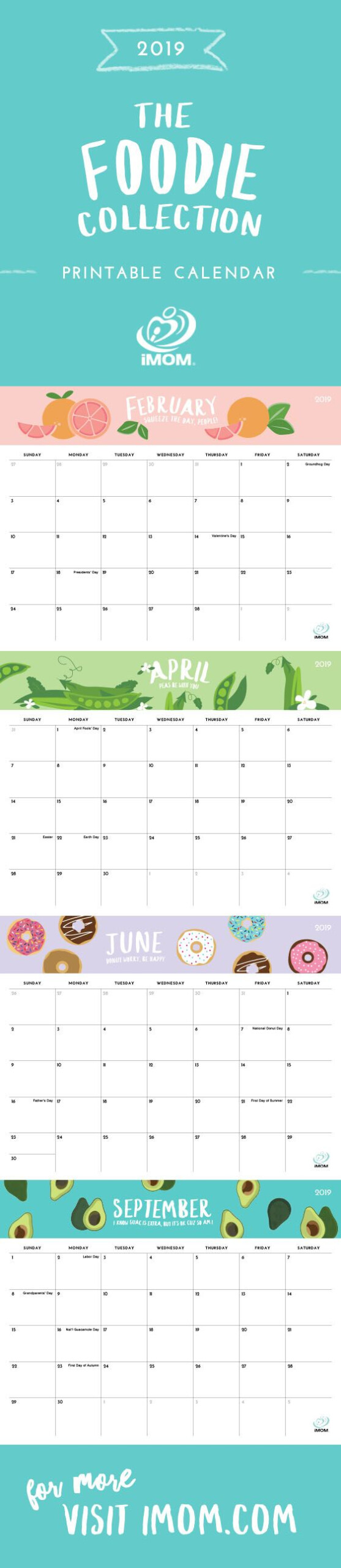 2020 And 2021 Foodie Printable Calendars For Moms - Imom