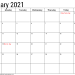 2020 Calendar With Holidays Templates - Handy Calendars