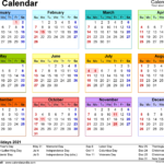 2021 Calendar South Africa In 2020 | Free Calendar Template