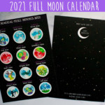 2021 Magic Full Moon Lunar Calendar - Traditional Full Moon