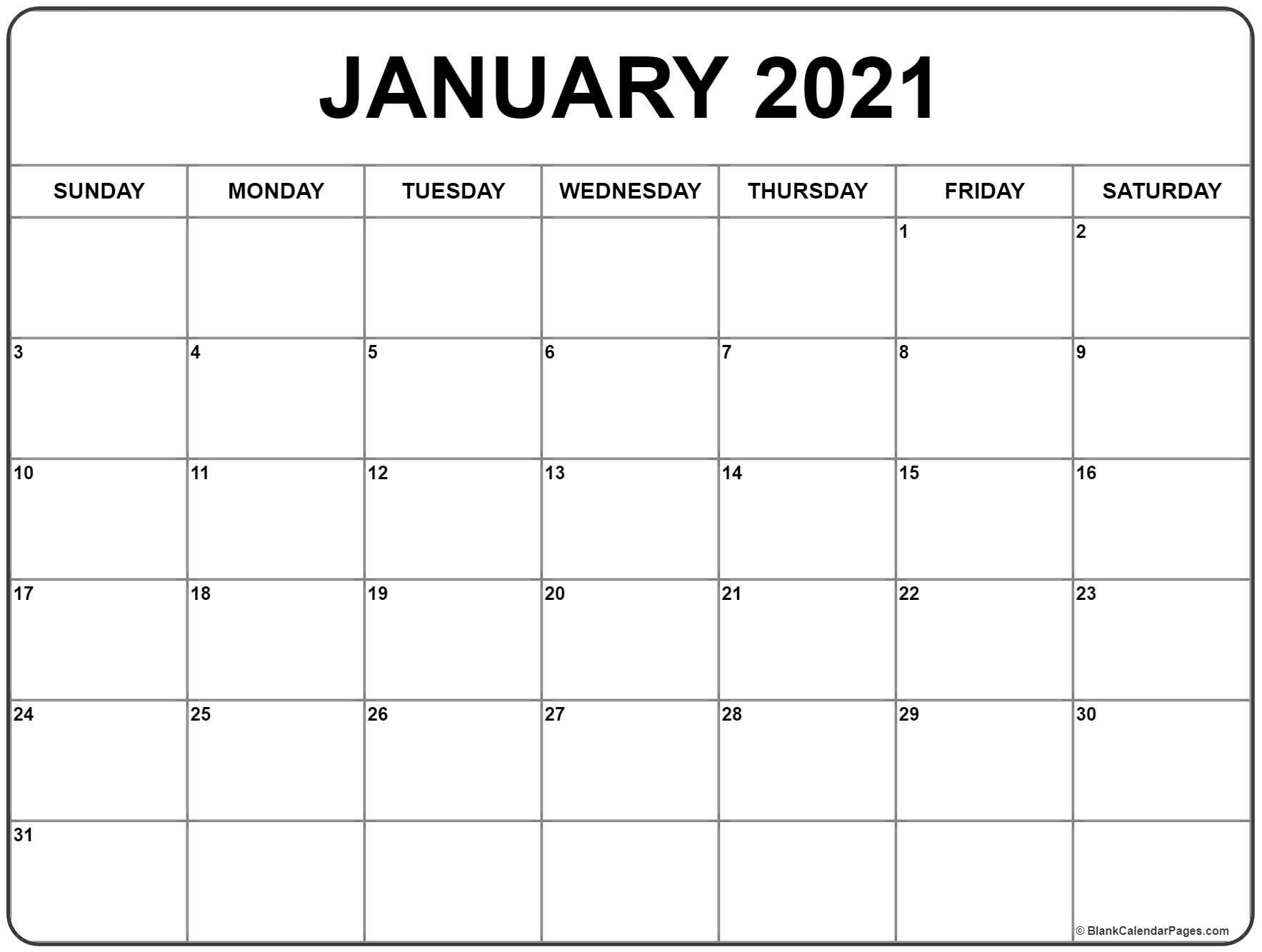 2021 Printable Calendar January In 2020 | Monthly Calendar