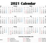 2021 Printable Calendar With Holidays – Free Printable 2020