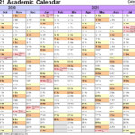 Academic Calendars 2020 2021 Free Printable Word Templates