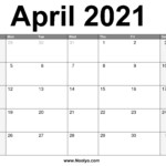 April 2021 Calendar Printable – Free Download – Noolyo