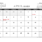 April 2021 Calendar Uk Printable In 2020 | Calendar Uk, 2021