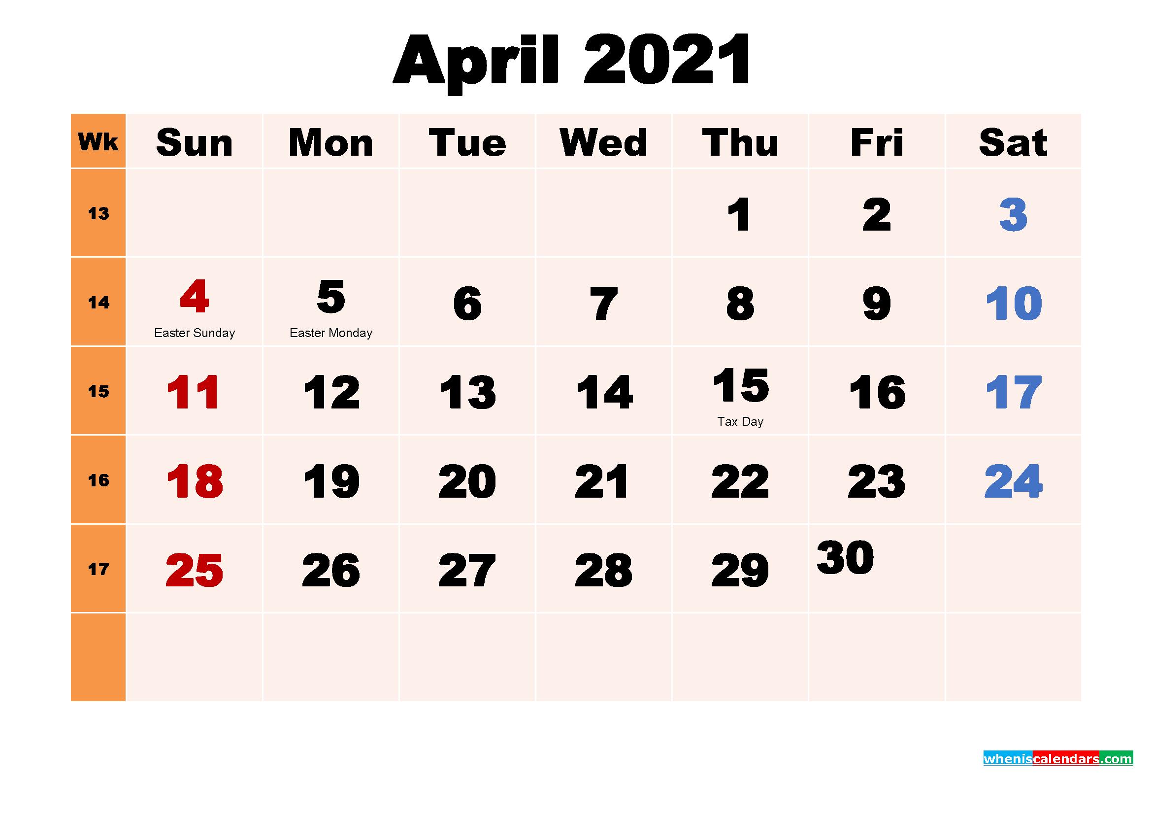 April 2021 Calendar Wallpaper Free Download – Free Printable
