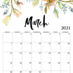 Beautiful March 2021 Calendar In 2020 | Monthly Calendar