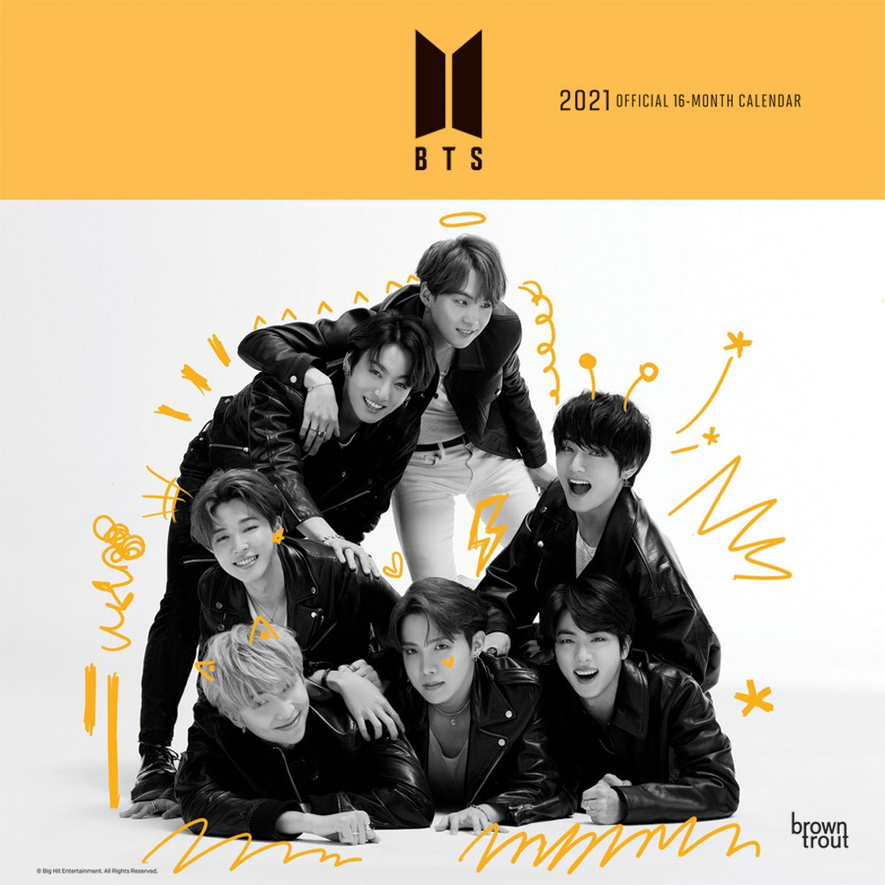 Bts Official 2021 12 X 12 Inch Monthly Square Wall Calendar