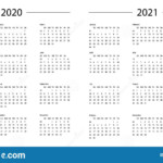 Calendar 2020 2021 Year Template Day Planner In This