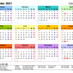 Calendar 2021 (Uk) - Free Printable Microsoft Word Templates