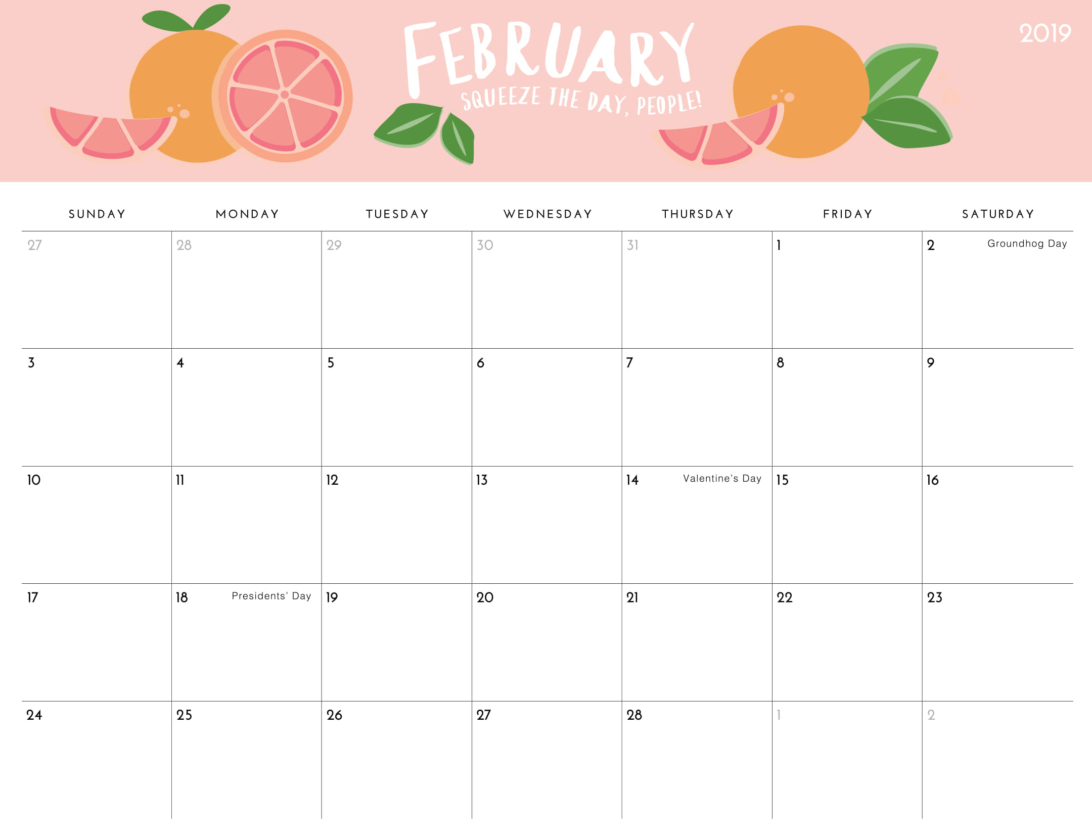 Calendar February 2019 For Kids | Printable Calendar Imom