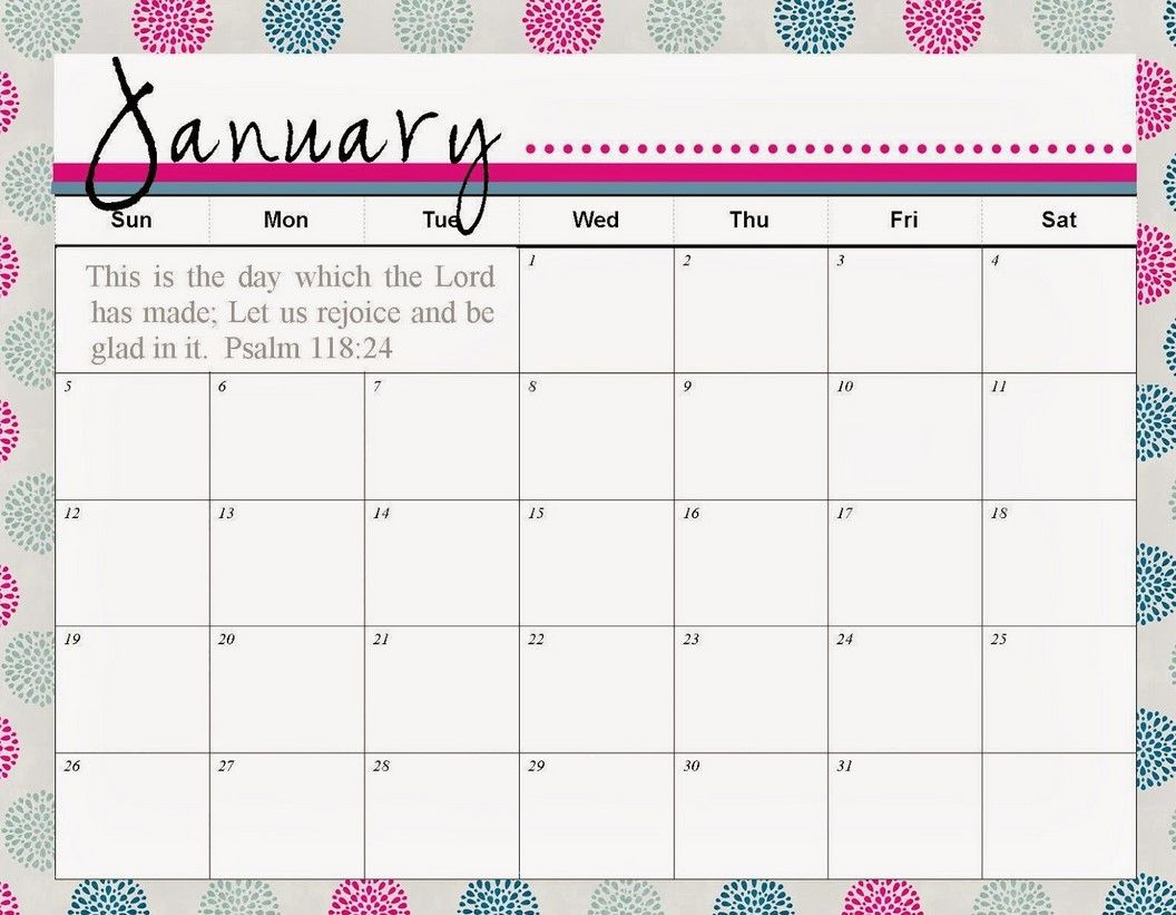 Calendar Template January 1 Things You Should Know About