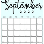 Cute (& Free!) Printable September 2021 Calendar