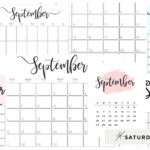 Cute (& Free!) Printable September 2021 Calendar | Saturdaygift