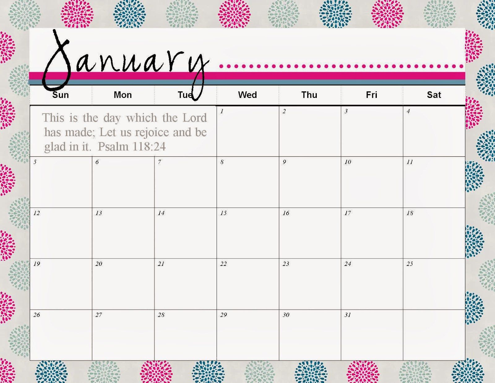 Cute January Schedule 2016 Imom • Printable Calendar