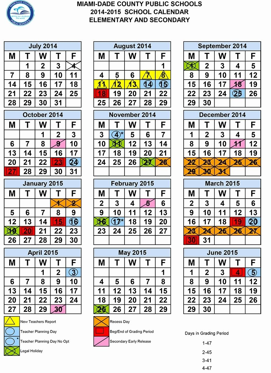 Dashing School Calendar In Miami Dade In 2020 | School