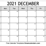 December 2021 Calendar. View The Free Printable Monthly