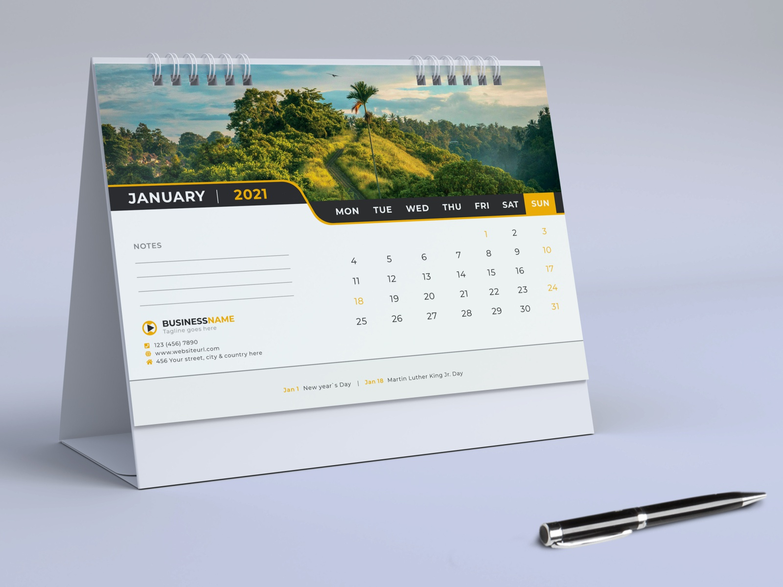 Desk Calendar 2021Didarul Islam On Dribbble