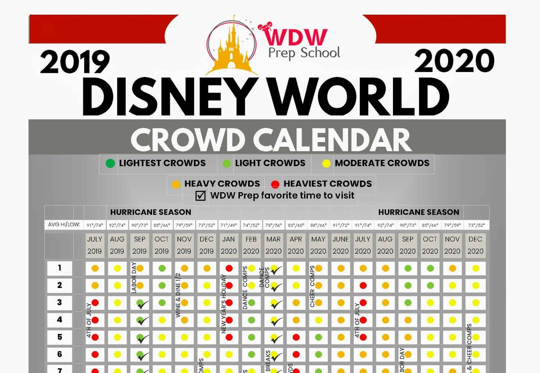 Disney World 2020 & 2021 Crowd Calendar (Best Times To Go