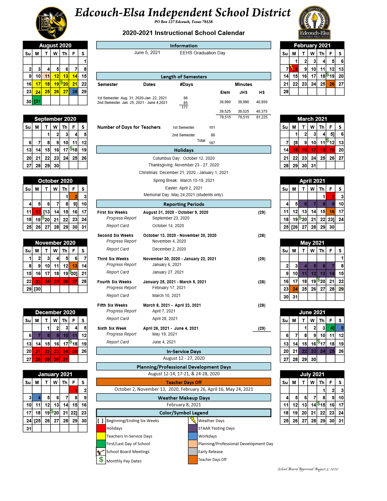 District Calendars / Overview