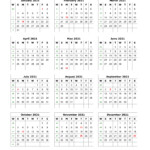 Download Blank Calendar 2021 (12 Months On One Page, Vertical)