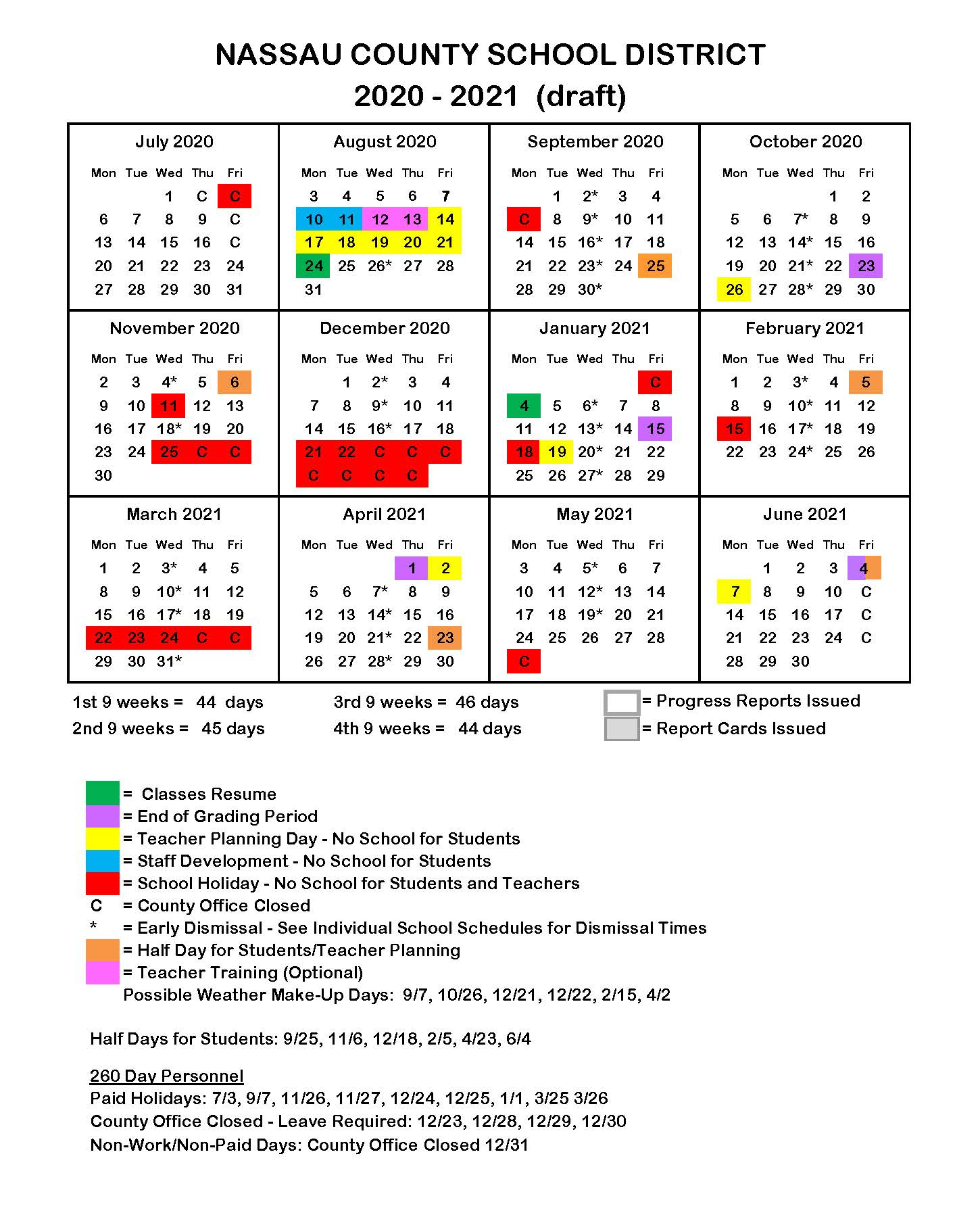 Florida Public School Calendars - All Districts Start Dates