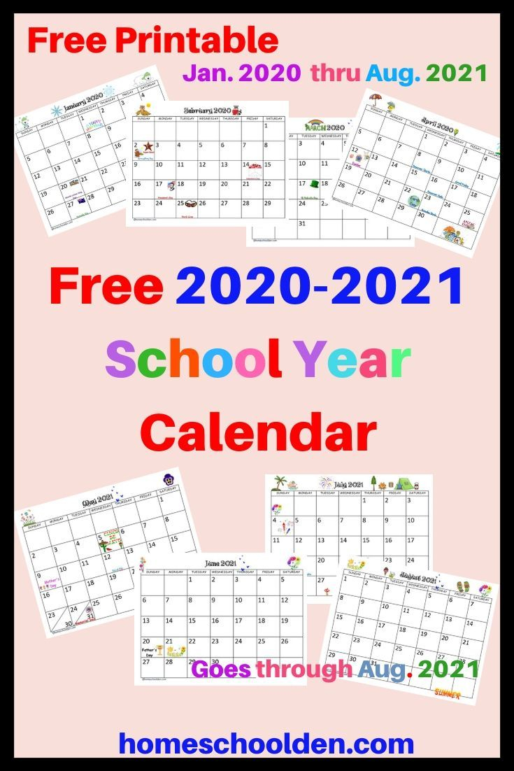 Free 2020-2021 Calendar Printable In 2020 | School Calendar