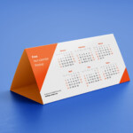 Free Dl Tent Desk Calendar 2020 Mockup Psd Set - Good Mockups