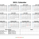 Free Download Printable Calendar 2021 With Us Federal