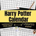 Free Harry Potter-Inspired Calendar For A Magical Year