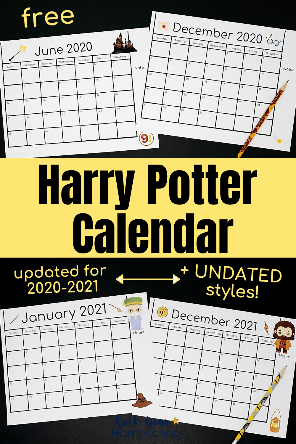Free Harry Potter-Inspired Calendar For A Magical Year In