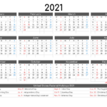 Free Printable 12 Month Calendar 2021 – 12 Templates – Free