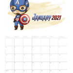 Free Printable 2021 Avengers Calendar - The Cottage Market