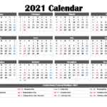 Free Printable 2021 Calendar With Holidays – Free Printable 2020