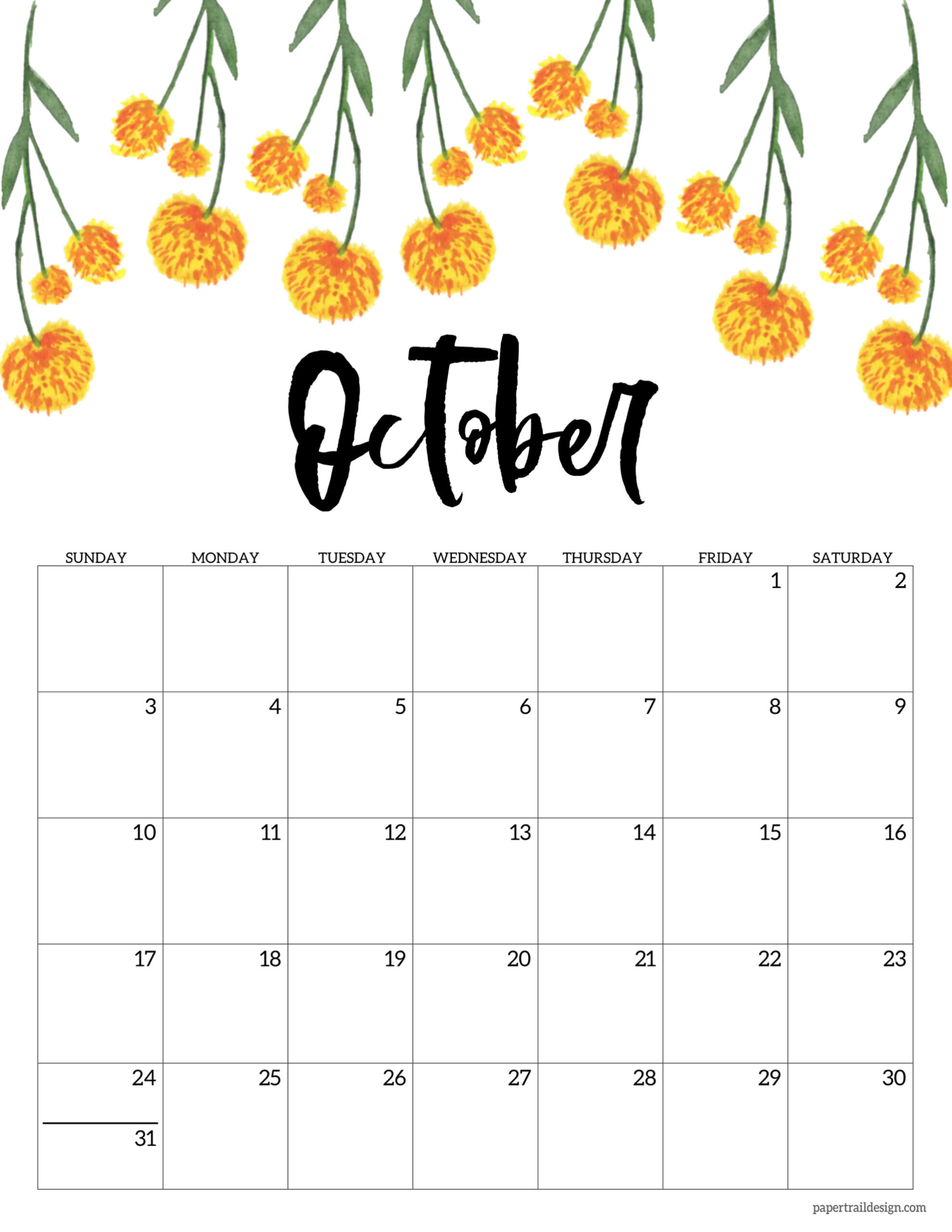 Cute September 2021 Calendar Printable | Free 2021 ...