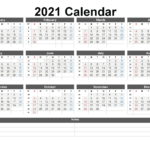 Free Printable 2021 Yearly Calendar With Week Numbers – Free