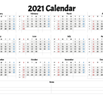 Free Printable 2021 Yearly Calendar With Week Numbers In