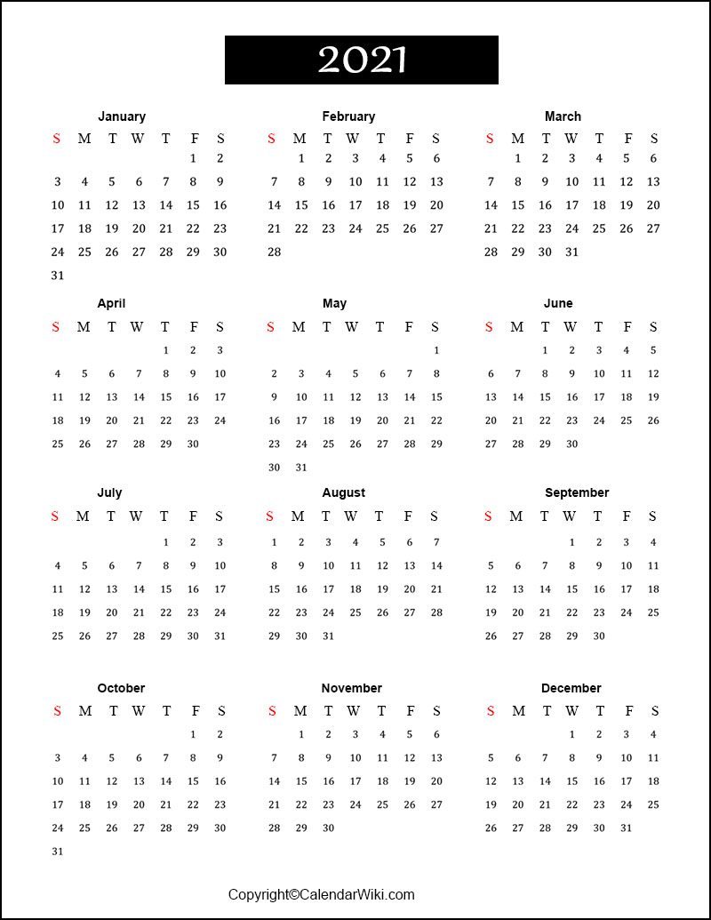 Free Printable Calendar 2021 Templates [Pdf, Word]