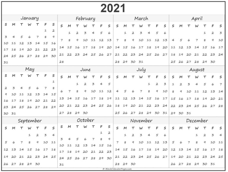Free Printable Calendar 2021 Uk Blank For Free | Free