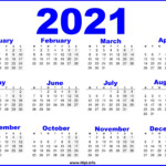 Free Printable Calendar 2021 Uk - Blue - Hipi