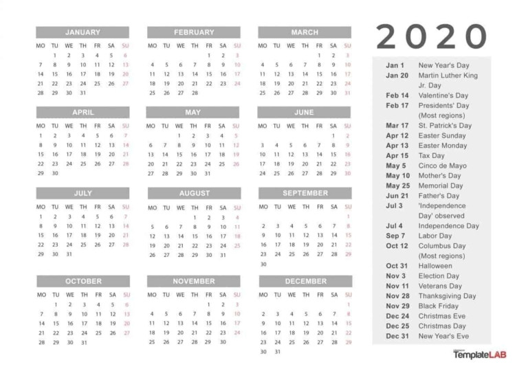 Free Printable Calendar Calendar Labs In 2020 | Printable