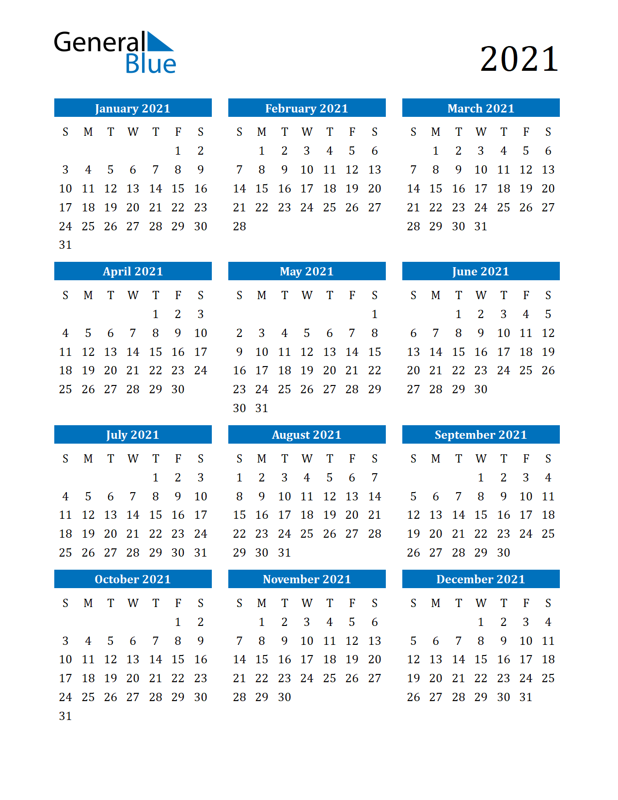 Free Printable Calendar In Pdf, Word And Excel