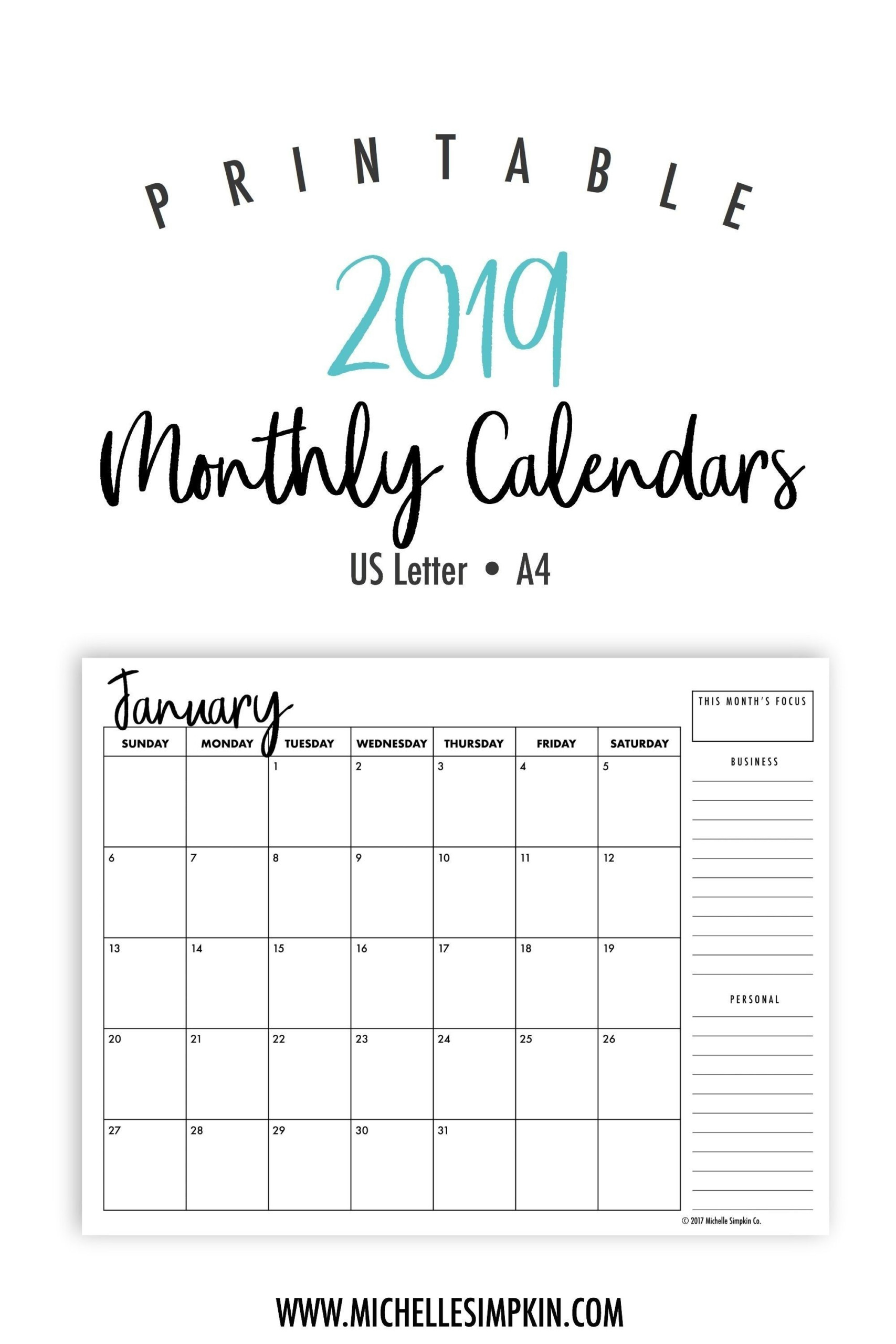 Free Printable Calendar Waterproof In 2020 | Blank Monthly