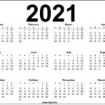 Free Printable Downloadable 2021 Calendars - Hipi