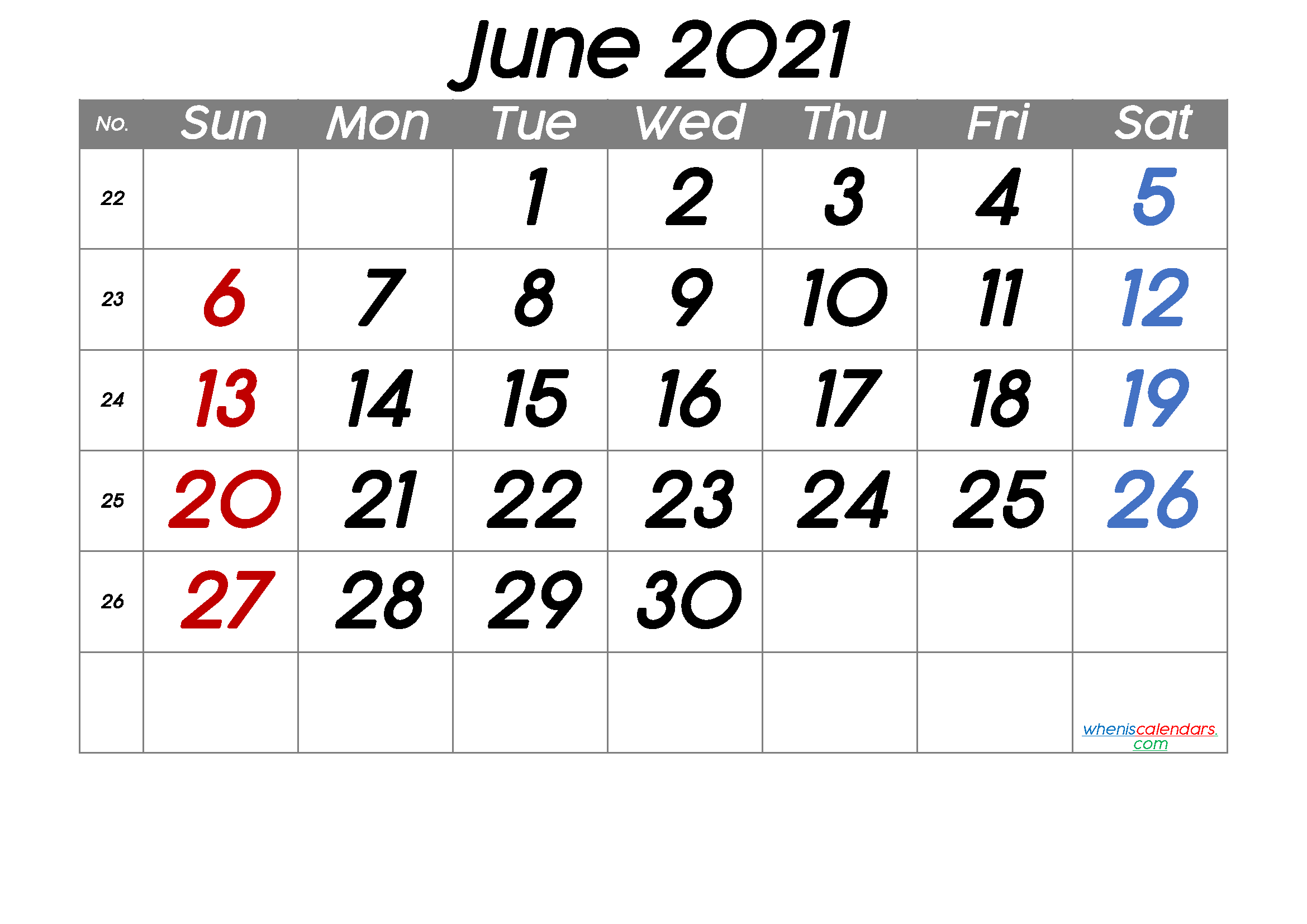 Free Printable June 2021 Calendar (Premium) In 2020 | Free