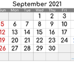 Free Printable September 2021 Calendar (Premium) In 2020