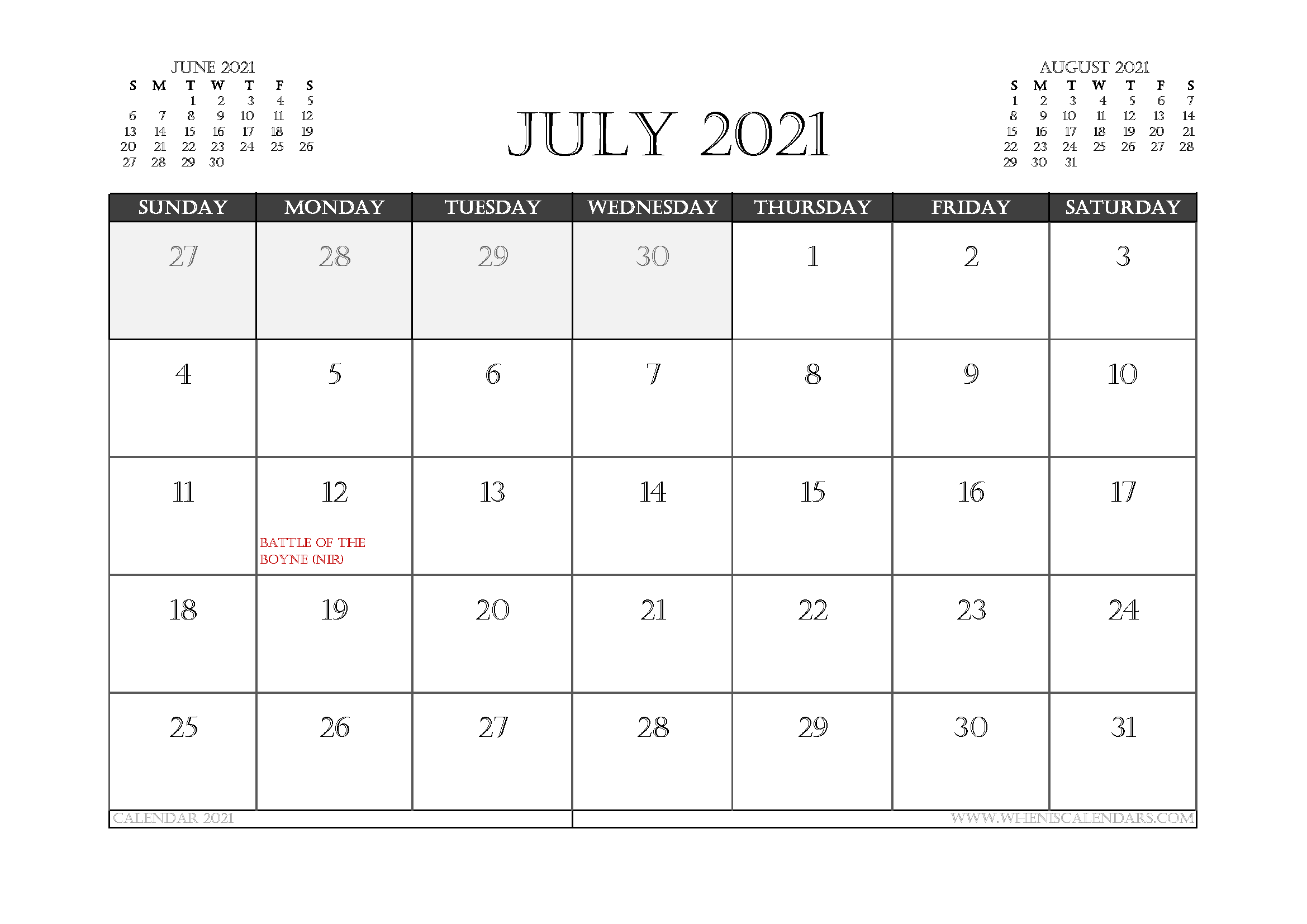 July 2021 Calendar Uk Printable In 2020 | Calendar Uk, 2021